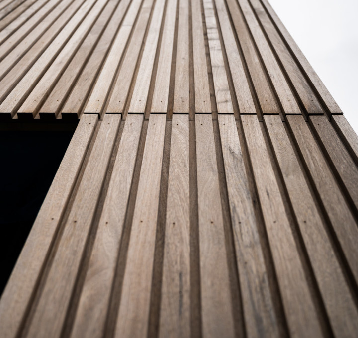 Gevelafwerking in hout